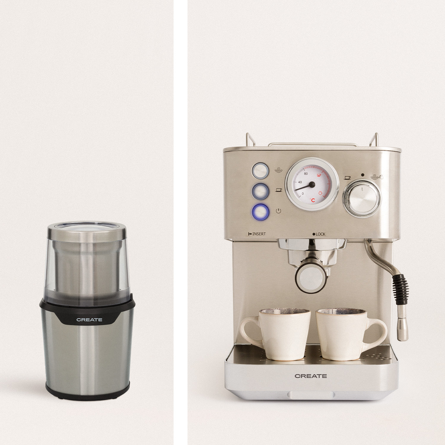 Pack - THERA CLASSIC Semiautomatic Express Coffee Maker + KOFIGRIND DUO Coffee and Spice Grinder, imagen de galería 1019889