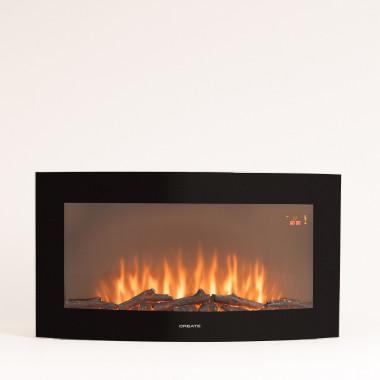 Comprar ELECTRIC FIRE L - Chimenea Eléctrica de pantalla curva de 35''