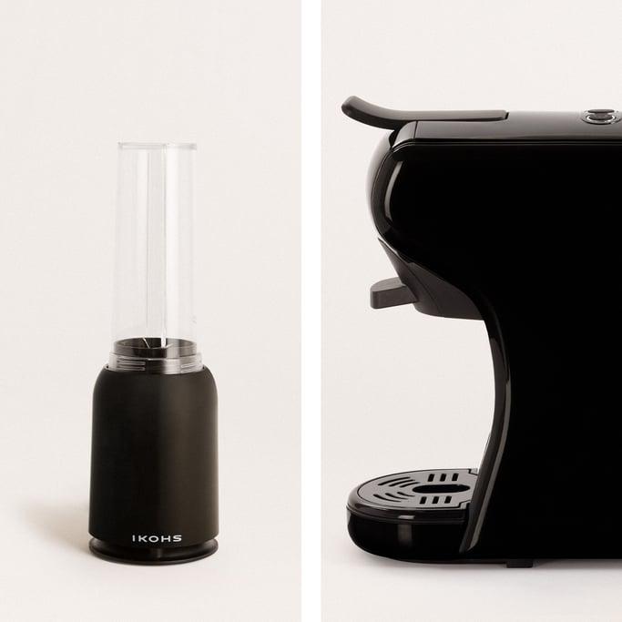 Pack - POTTS Cafetera Multicápsulas Negra + MOI SLIM Batidora negra con vaso , imagen de galería 1020471
