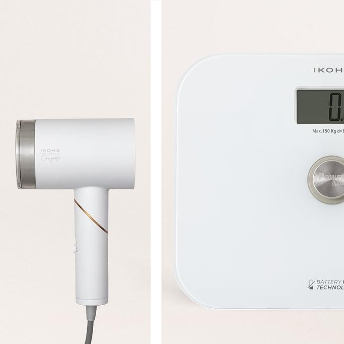 Pack - EXIGES WHITE báscula de baño + ION CERAMIC COMPACT secador de pelo, imagen de galería 1040127