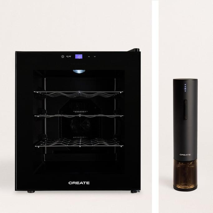 Pack -  WINECOOLER L Vinoteca eléctrica para 16 botellas + WINETWIST descorchador eléctrico , imagen de galería 1