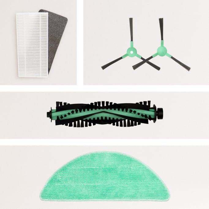 Pack Repuestos NETBOT S14 / S15  (Cepillo Derecho + Cepillo Izquierdo + Rodillo + Filtro HEPA + Mopa) , imagen de galería 1147720