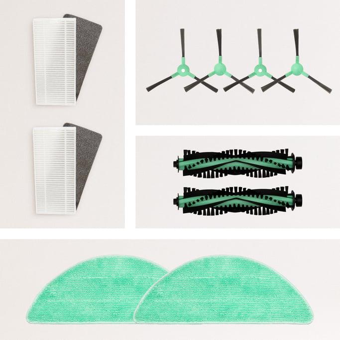 Pack Repuestos NETBOT S14/S15  2 x (Cepillo Derecho + Cepillo Izquierdo + Rodillo + Filtro HEPA + Mopa) , imagen de galería 1147744