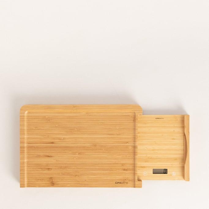 BOARD SCALE BAMBOO - Tabla corte de cocina con báscula integrada, imagen de galería 1