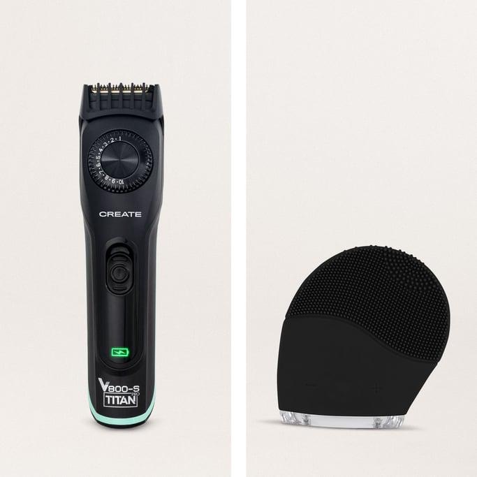 PACK  - BARBER V800 PRO Afeitadora eléctrica inalámbrica + FACIAL WAVE Cepillo Facial de Silicona, imagen de galería 823493