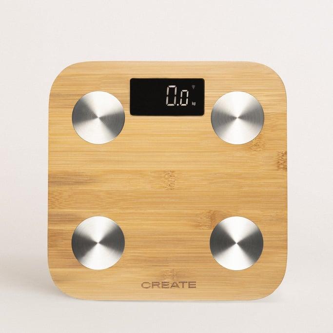 BALANCE BODY BAMBOO SMART - Báscula de baño de bioimpedancia de bambú, imagen de galería 1