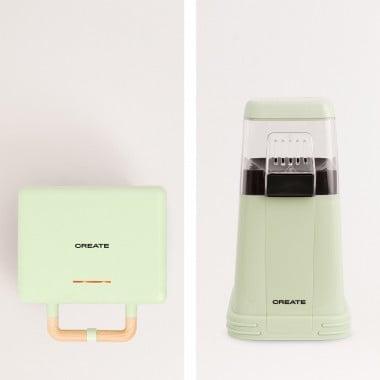 Acquista PACK -  POPCORN MAKER macchina per popcorn + STONE 3 IN 1 STUDIO - Tostapane grill e Macchina Waffle