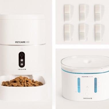 Acquista PETCARE HD PACK Feeder + AQUAPURE Drinker + 6 filtri acqua ad alta efficienza
