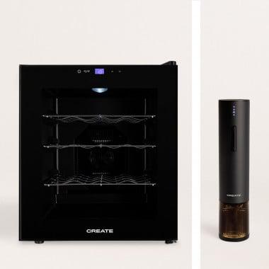 Acquista Pack - WINECOOLER L Cantinetta frigo elettrica per 16 bottiglie + cavatappi elettrico WINETWIST