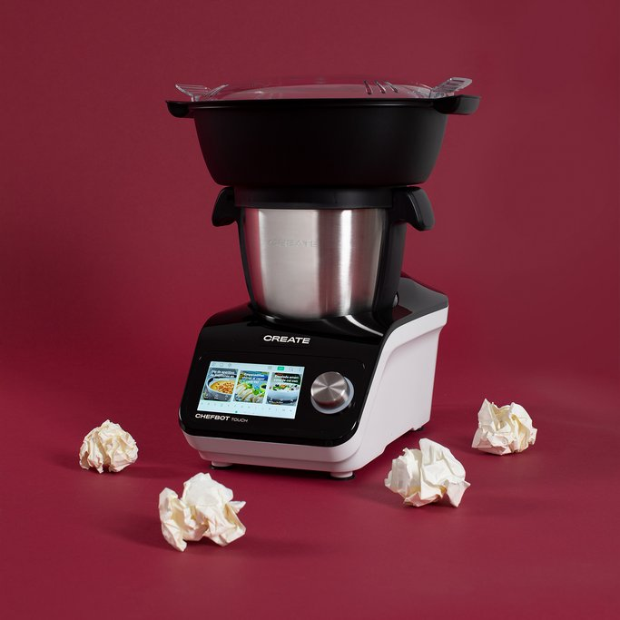 CHEFBOT TOUCH - Robot de cucina intelligente + Cesta a Vapore, imagen de galería 1