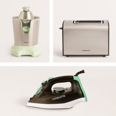 Buy PACK - JUICER FORCE Electric Juicer + SUPREME TOAST Bread Toaster + LUXOR 2600W Steam Iron