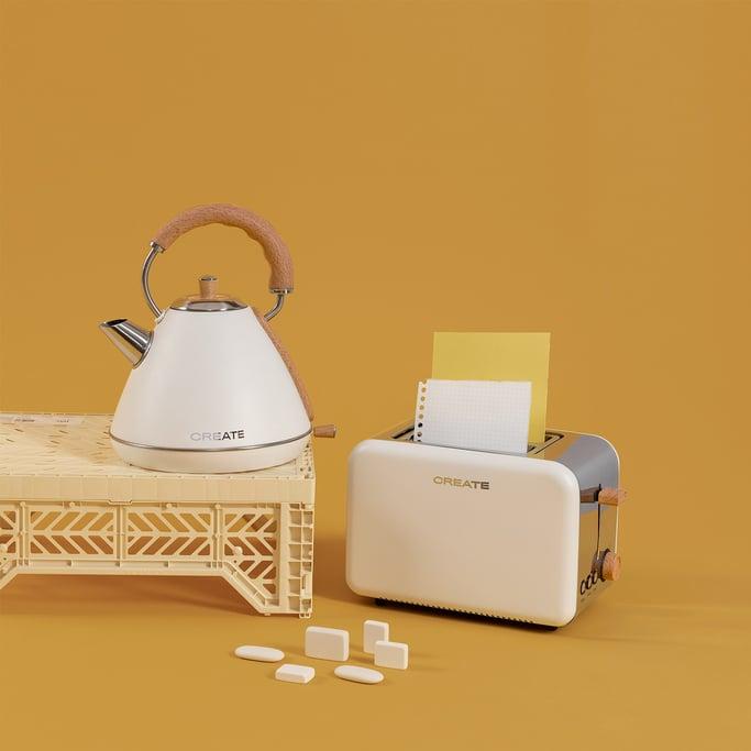 PACK - TOAST RETRO Bread toaster + KETTLE RETRO Kettle, imagen de galería 1