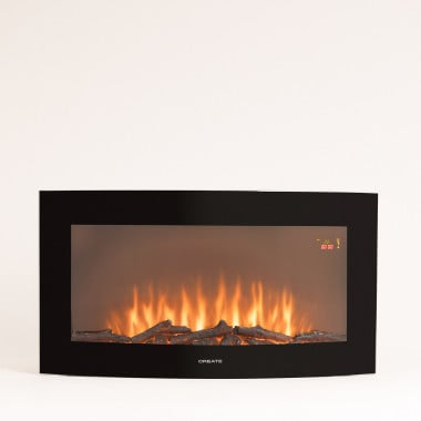 Buy ELECTRIC FIRE L - 35 '' Curved Screen Electric Fireplace