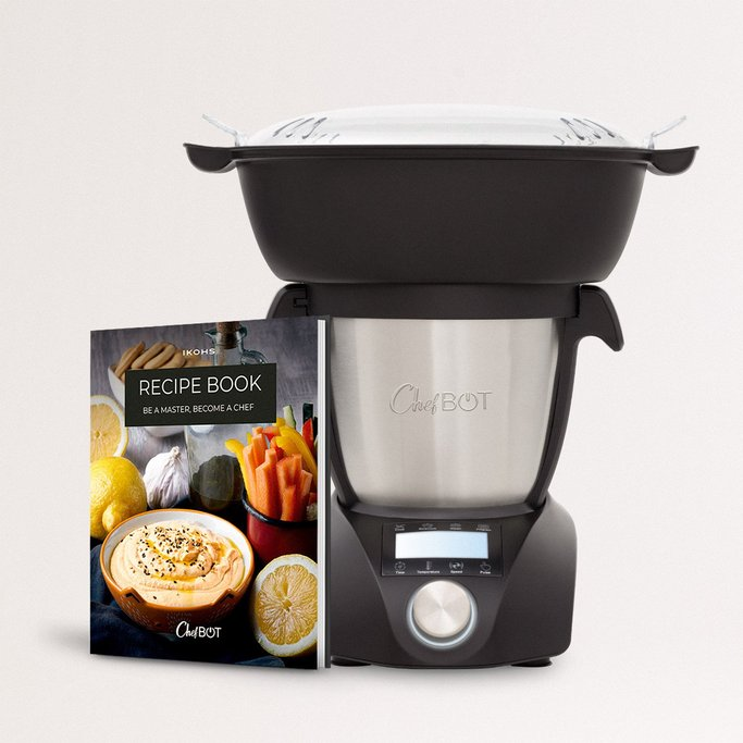 CHEFBOT COMPACT STEAMPRO (with Steam Basket) + Recipe Book  - Intelligent Kitchen Robot & Bread Maker, imagen de galería 1