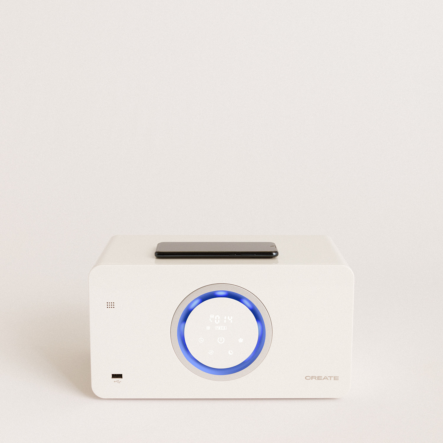 AIR PURE COMPACT - Air purifier with HEPA H13, bluetooth speaker and wireless charger, imagen de galería 1