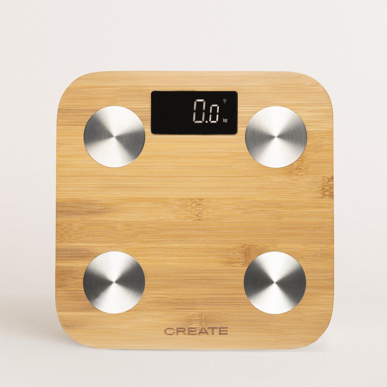 BALANCE BODY BAMBOO SMART - Bamboo bioimpedance bathroom scale, imagen de galería 1