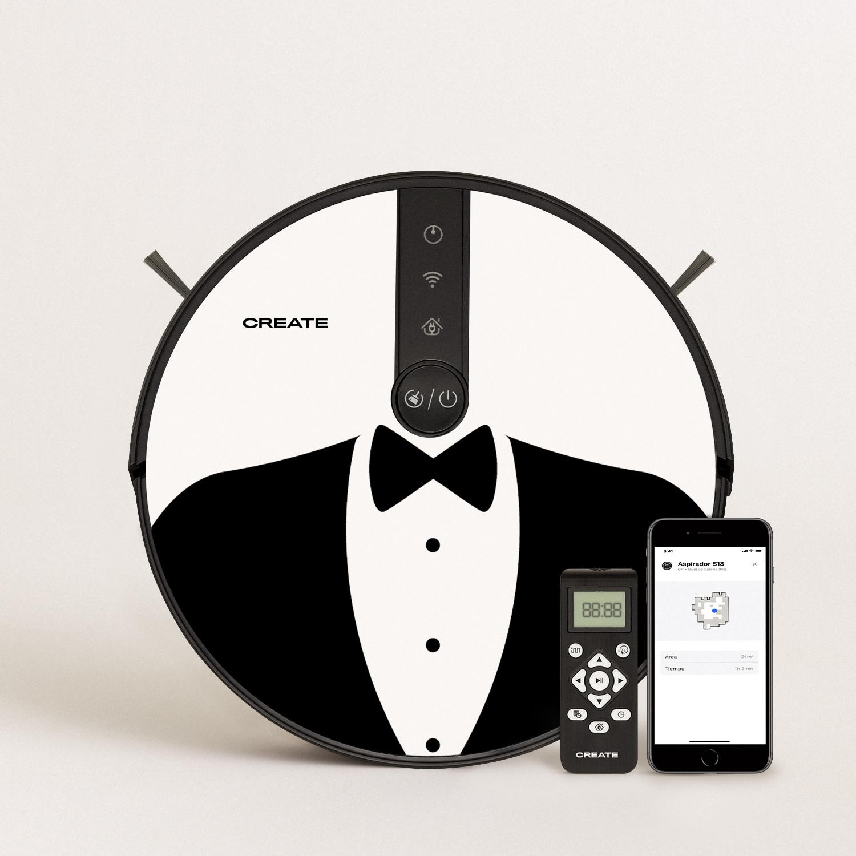 PACK - NETBOT S18 Robot Vacuum Cleaner + Vinyl DESIGN, imagen de galería 1